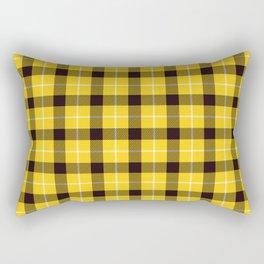 Yellow Plaid Tartan Rectangular Pillow