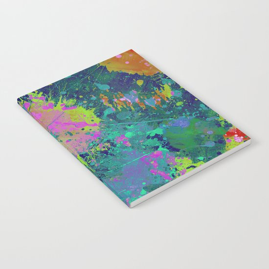 Messy Art I - Abstract, paint splatter painting, random, chaotic and messy artwork Notebook