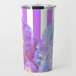 MODERN ABSTRACT LILAC AMETHYST CRYSTALS ART Travel Mug