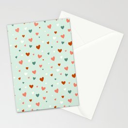 Valentines Hearts Stationery Cards