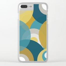 Retro Circles Clear iPhone Case