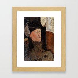 """Amedeo Modigliani """"Beatrice Hastings"""", 1916 Framed Art Print"""