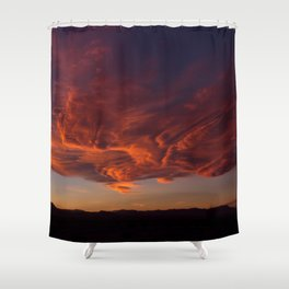 Desert Sky on Fire Shower Curtain