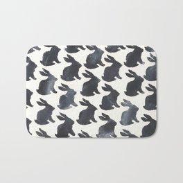 Rabbit Chalkboard Pattern by Robayre Bath Mat