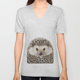 Hedgehog Art Unisex V-Neck