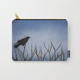 Winter Crow in Tree Carry-All Pouch