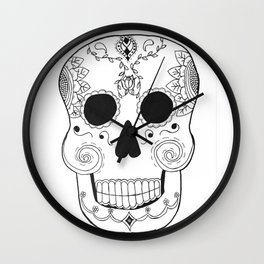 Dia de Muertos Skull (The Day of the Dead Skull) Wall Clock
