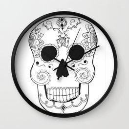 Dia de Muertos Skull (The Day of the Dead Skull) Wall Clock