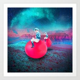 Space Hoppers Art Print