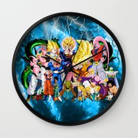 dbz Wall Clocks featuring DBZ - Buu Saga by Mr. Stonebanks