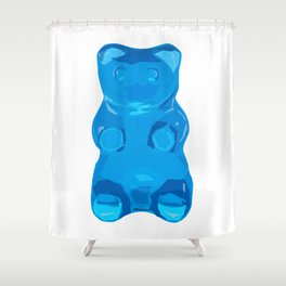 Blue Gummybear Shower Curtain