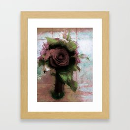 Shabby Rose Framed Art Print