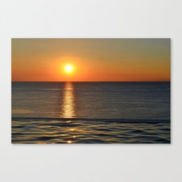 Super Sunset at the Beach Canvas Print