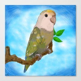 Skittles the Love Bird Canvas Print