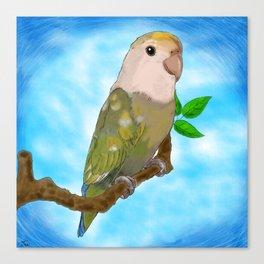 Skittles the Love Bird Canvas Print