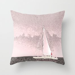 """Sailboat #8"" Art of the Sea by Murray Bolesta Throw Pillow"