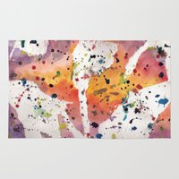 splatter Area & Throw Rugs featuring splatter by Glossy Eyes