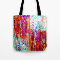 valentines Tote Bags featuring Valentines Brunch by Glint & Lime Art