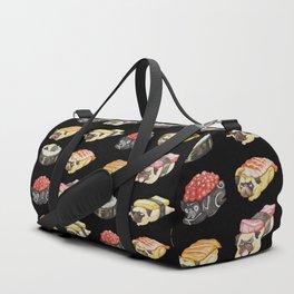 Sushi Pug Watercolor Duffle Bag