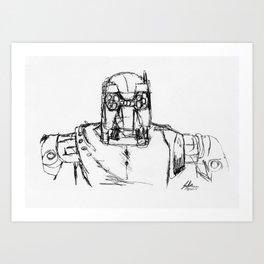 Warbot Sketch #030 Art Print