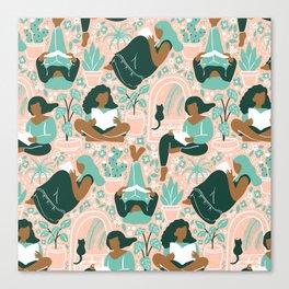 Women Readers - Pattern Canvas Print