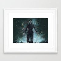 """dishonored Framed Art Prints featuring """"The Outsider"""" Dishonored by Alba Palacio"""