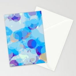 dark blue orange and blue circle pattern painting abstract background Stationery Cards