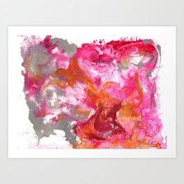 Magenta Explosion Art Print