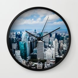 From New York to the Sky at the Manhattan Big Apple Dream Wall Clock