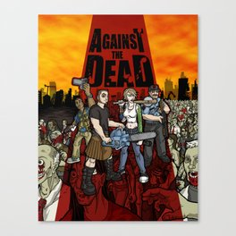 Against the Dead Canvas Print