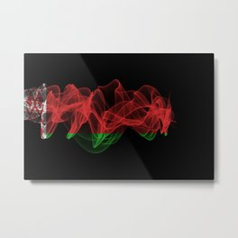 Belarus Smoke Flag on Black Background, Belarus flag Metal Print