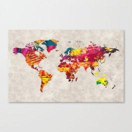 World Map 55 Canvas Print