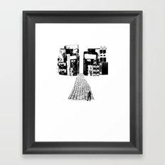 Dead Sound City (Black on White) Framed Art Print