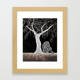 A Branch of Life to Contemplate Framed Art Print