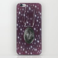 dark side of the moon iPhone & iPod Skins featuring Dark Side of the Moon by Helle Gade