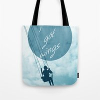 wings Tote Bags featuring Wings by AA Morgenstern