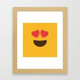 Love Face Framed Art Print