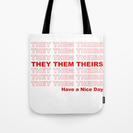 THEY THEM GROCERY PRONOUNS Tote Bag