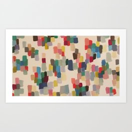 Colorful happy cheerful abstract painting Art Print