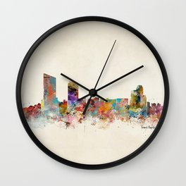 grand rapids michigan skyline Wall Clock
