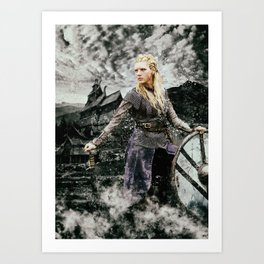 Viking Lagertha Art Print