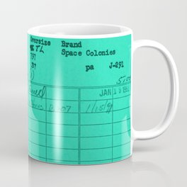 Library Card 797 Turquoise Coffee Mug
