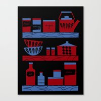 cooking Canvas Prints featuring Cooking by Jennifer Epstein