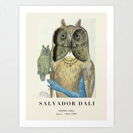 Poster-Salvador Dali-Trompe l'oeil. Art Print