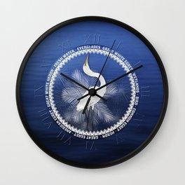 Great Egret Wreath Wall Clock