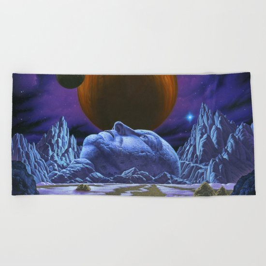 Time is the simplest thing Beach Towel