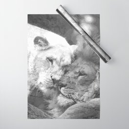 Lion in Love Valentine's Day Wrapping Paper
