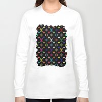 targaryen Long Sleeve T-shirts featuring COLORFULL LV PATTERN LOGO by BeautyArtGalery