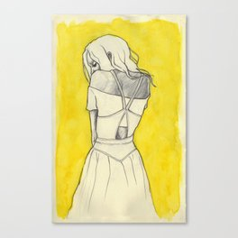 Self in Yellow Canvas Print