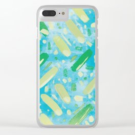 Festivities - Turquoise Clear iPhone Case
